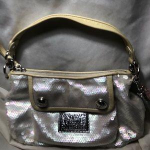Coach Iridescent sequined bag
